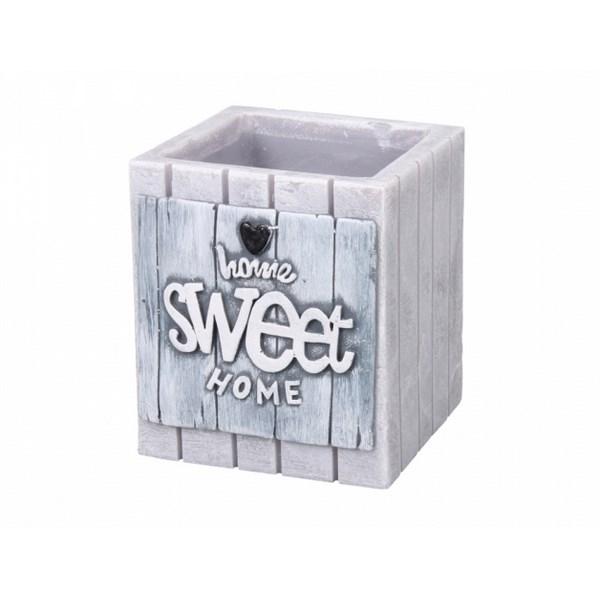 47133e9ae Dekoratívna sviečka Home Sweet Home, sivá - Bytové doplnky a dekorácie
